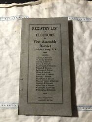 Dutchess County New York First Assembly Book Registry Of Electors