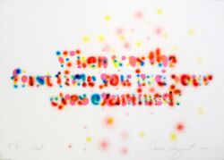 James Rosenquist First 1973. Signed Numbered Colorful Fine Art Print
