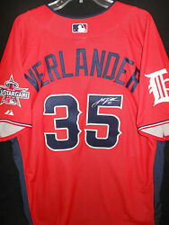 Justin Verlander Signed 2010 All Star Jersey Auth. Majestic Detroit Tigers-rare