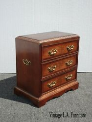 Vintage French Country Ornate Nightstand By Lane Furniture