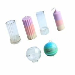 Candle Molds For Candle Making Plastic Pillar Candle Making Kit Ball Sphere M...