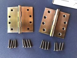 Deltana Solid Brass Hinges Antique Nickel 4x4 Brand New