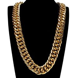 Hip Hop Rappers Cuban Chain Link Chunky Gold Miami Dj Street Mega 35in Necklace