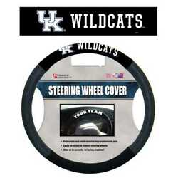Kentucky Wildcats Poly-suede And Mesh Steering Wheel Cover New Free Shipping