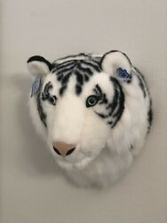 Applause Decorative Wall Mount White Tiger Head Plush - Brand New