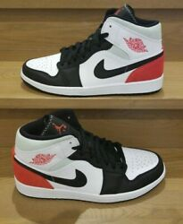 Jordan 1 Mid Red Union Black Toe Sold Out 100ds - 852542-100 - Wht/red/igloo