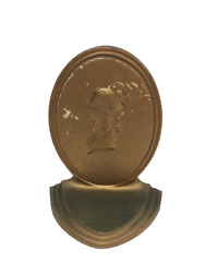 Antique Bronze B And H Bradley And Hubbard Bookend / Doorstop Woman Profile Cameo