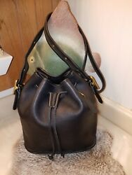 Vintage Coach Lulaquot;s Legacy Leather Drawstring Crossbody Bucket Bag #9952 USA $64.99