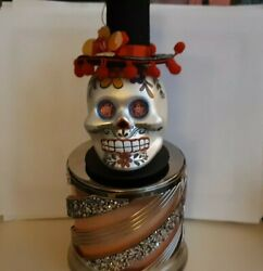 CANDLE Lid Magnet Topper Skull Day of Dead for Bath amp; Body Works 3 wick large