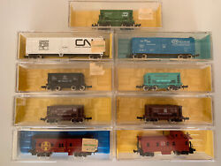 Atlas N Scale Train Freight Cars Lot Of 9 Freight Cars