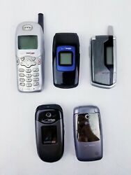 Lot Of 5 Vintage Used Verizon Cell Phones Flip Phones Sold As Is Untested Parts