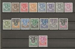 Northern Rhodesia 1925 Sg1/17 Mint Cat Andpound800