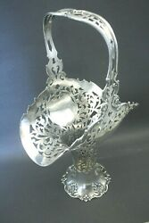 Rare Antique Reed @ Barton Sterling Silver Wedding Boutique Flower Basket Holder