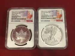 2019 W 1 And 5 Silver Reverse Proof Ngc Pf70 Pride Of Two Nations Coin Set Rare