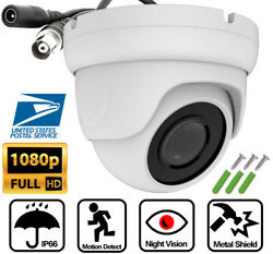 Ahd Tvi 2mp 1080p Night Vision Security Camera 2.8mm Lens Dome Cctv Ip66 Outdoor