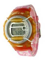 New Casio Crystal Pink G Baby G Shock Data Bank Watch Bg164 100 M-wr Dual Time