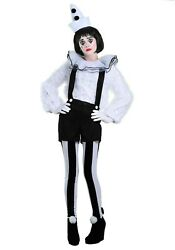 Womenand039s Vintage Pierrot Clown Costume Size M With Defect