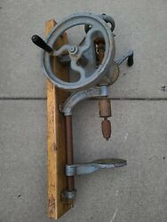 Antique Champion Blower And Forge Hand Crank Post Drill Press Lancaster Pa Vintage