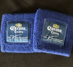 2 Corona Extra Beer Bottle Can Koozie Coozie Cooler New Wrist Band V Foundation