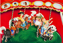 Lowes Merry Go Round Story Book For Little Folks Wraparound Cover Original Art