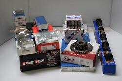 350 Chevy 1968-79 Master Engine Kit Hyper Dome Pistons+stage 3 Cam+gaskets+brg+