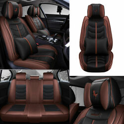 Us Pu Leather Car Seat Covers Universal For Sedan Suv Truck Accessories Full Set