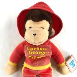 Vintage Knickerbocker Curious George The Jogger Plush Doll 18 Inches Tall
