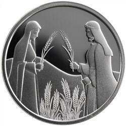 Israel Coin And Medal 2020 Bible Story Ruth In Boaz's Field Proof Like Silver