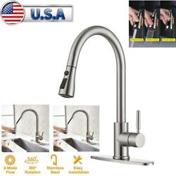 Kitchen Faucet Single Handle One Hole/three Hole Faucet Pull-down Rotary Sprayer