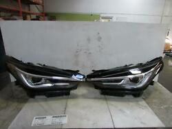 19 Infiniti Qx50- Left And Right Sides Complete Headlamp Assemblysmoky Linesled