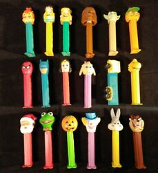 Lot Of 18 Vintage Pez Dispensers Collection Rare Look