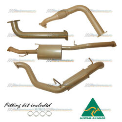 King Brown 3 Stainless Exhaust Muff And Reso For Mitsubishi Pajero Nt/nw/nx 3.2l