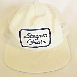 Stegner Grain Trucker Hat K Product Mesh Cap White Patch Agriculture Made In Usa