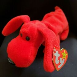 Retired Original Ty Beanie Baby Rover Red Dog 5-30-96 Tag Errors Pvc Pellets