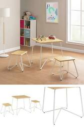 Mainstays Kids 3-piece Finn Metal Frame Play Table And Stool Set, Multiple Color