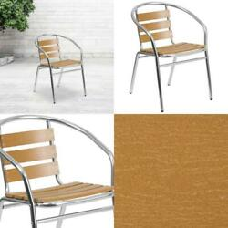 Flash Furniture Aluminum Commercial Indoor-outdoor Restaurant Stack Chair With T