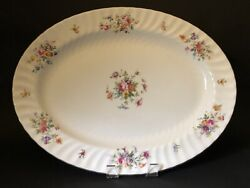 Minton Marlow Wreath Backstamp 16 1/4 X 12 1/4 Oval Serving Platter
