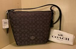 🌺NWT🌺 Coach Signature Small Dufflette Crossbody Leather Canvas Org $225 Black $99.00