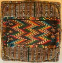 Hand Woven And Hand Embroidered Vintage Guatemalan Pillow Cover