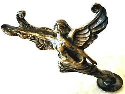 Vintage Artand039deco Winged Woman Hood Ornament. A Classic Already Difficult To Get.
