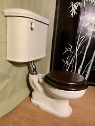 Wall Mounted Antique Toilet Restored