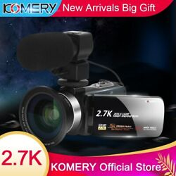 Camcorder Video Camera Ips Hd Touch Screen 2.7k Vlogging For Youtube 16x Zoom
