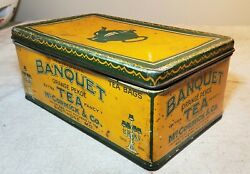 Vintage Banquet Orange Pekoe Tea Bags Litho Tin From Mccormick And Co. Baltimore