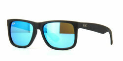 RAY BAN RB4165 622 T3 Black Rubber Polarized Grey Gradient 54mm Men#x27;s Sunglasses $49.99