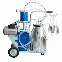 Electric Milking Machine For Farm Cows Stainless Steel + 25l Bucket Milker