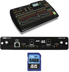 Behringer X32 Digital Mixer Bundle With Dn32-live Expansion Module And Sd Card