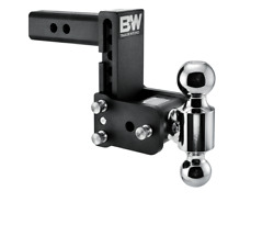 Bandw 10,000lbs Black Tow And Stow 2 Ball Trailer Hitch With 5 Drop - 2 Receiver