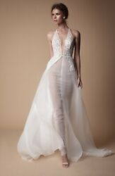 Muse By Berta Bianca Sicily Size 38 Style 18-32 Wedding Dress Bridal Gown