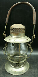 1910 B And O Safety First Embossed Locomotive R.r. Lantern Dietz Bell Bottom H2