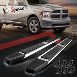 6 Stainless Running Board Side Step Bar For 09-20 Dodge Ram Extended/quad Cab